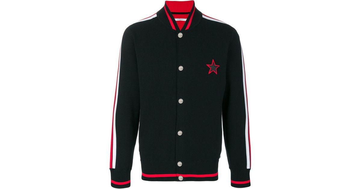 97751103c08 Givenchy Star Motif Bomber Jacket in Black for Men - Lyst