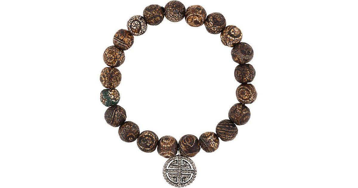 Monan beaded bracelet - Grey uhvPYJ31od