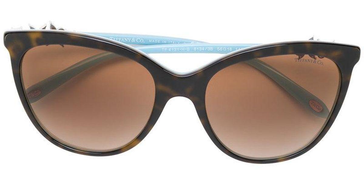 506fd2e69f8c4c Lyst - Lunettes de soleil à monture papillon Tiffany   Co. en coloris Marron