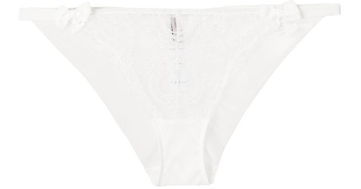 lace bow briefs - White Chantal Thomass Outlet Locations Sale Online Outlet Fake Buy Cheap Enjoy Countdown Package Cheap Price be7hf2R