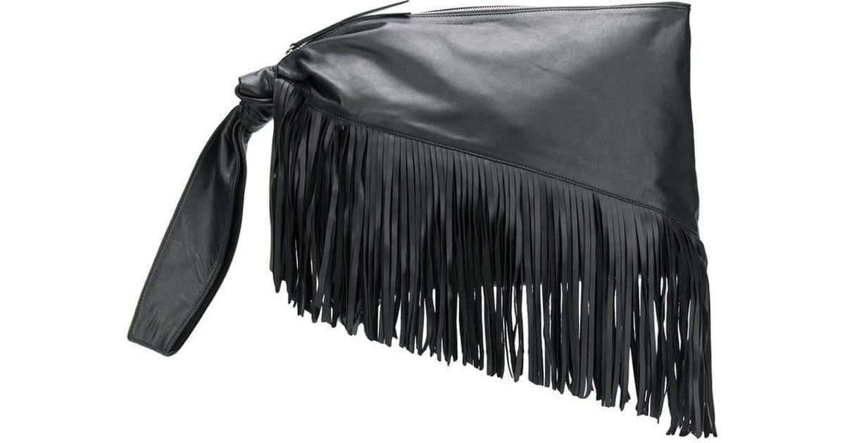 550c8992807 Isabel Marant Farwo Fringed Clutch in Black - Save 40% - Lyst
