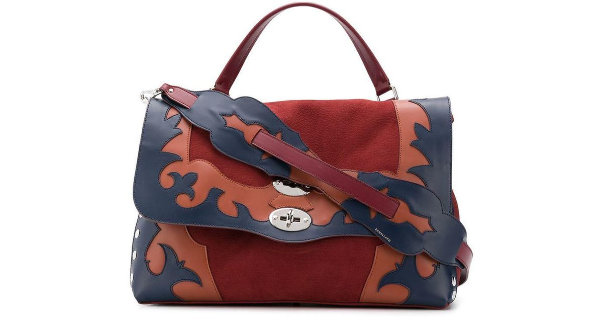 Lyst zanellato postina m appliqué bag in red
