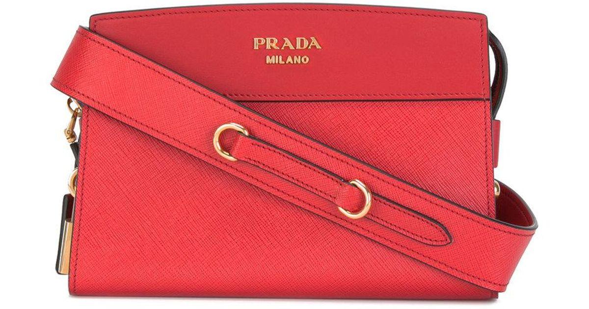 35bce091610368 Lyst - Prada Esplanade Shoulder Bag in Red