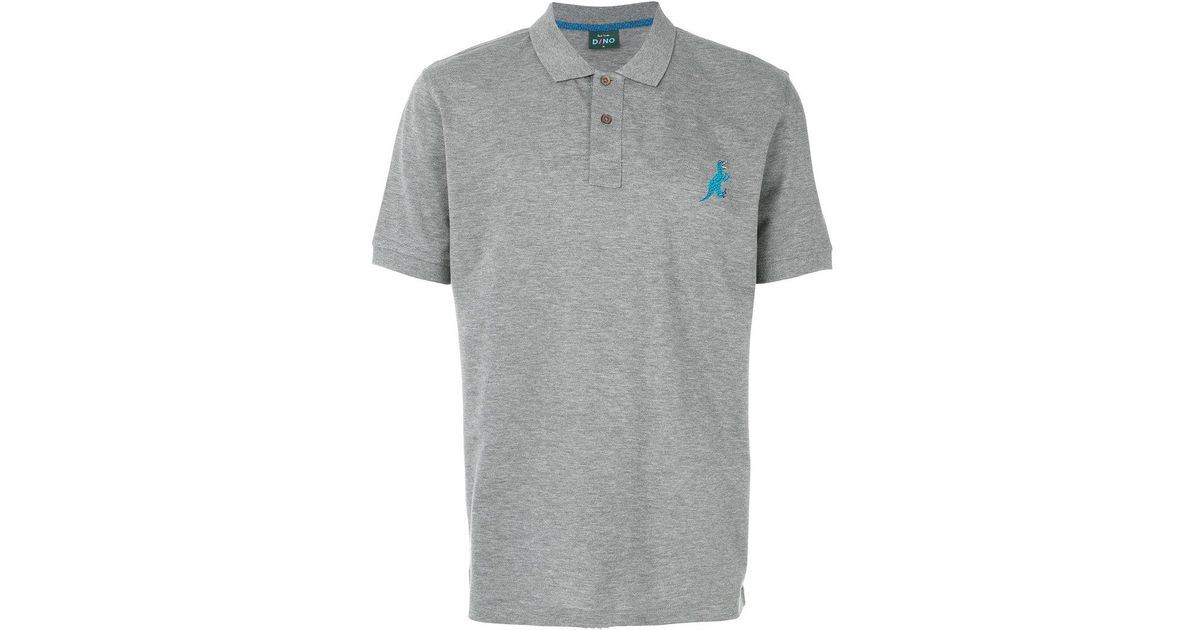 6f21e310d PS by Paul Smith Dinosaur Polo Shirt in Gray for Men - Lyst