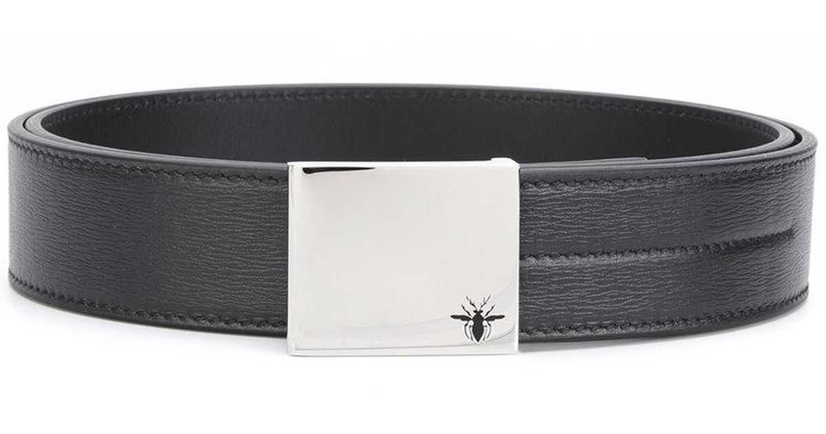 b60912acd8ebf Dior Homme Bee Logo Belt In Black For Men Lyst