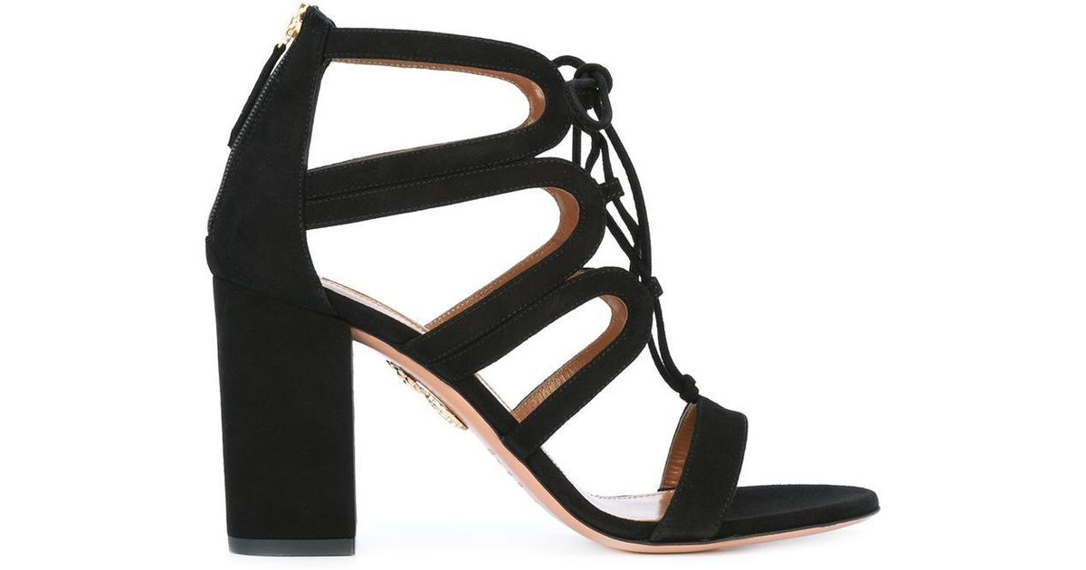 e19bfc13c Lyst - Aquazzura  holli  Sandals in Black
