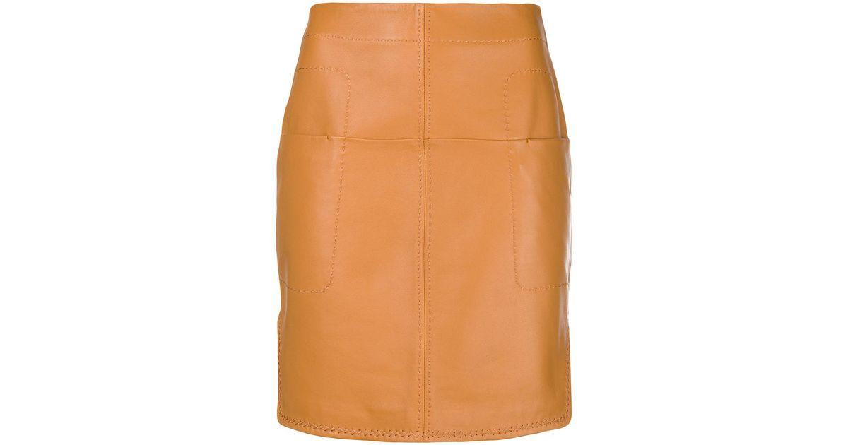 Falda ajustada ajustada Falda corta de corta de Carven atwzwq