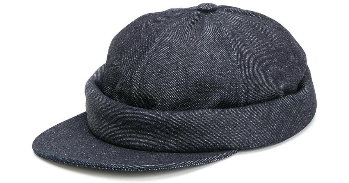 beton cire casquette miki denim cap in blue for men lyst. Black Bedroom Furniture Sets. Home Design Ideas