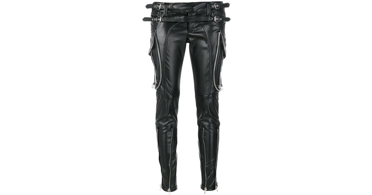 zip detail patent look trousers - Black Faith Connexion TwPuh