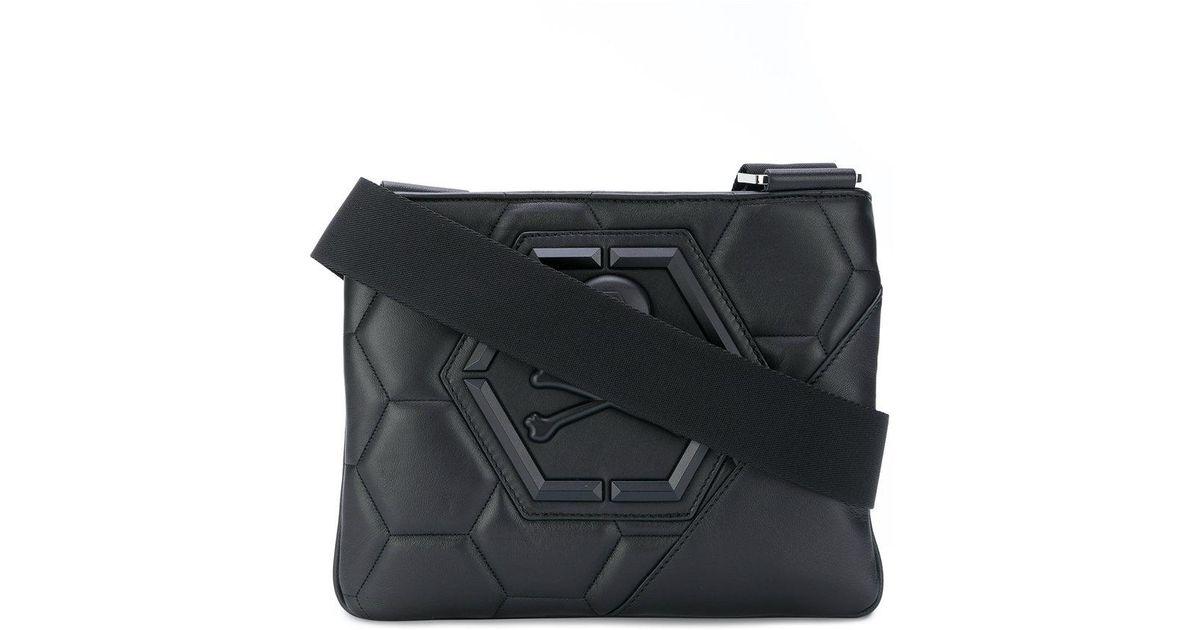 691867526c Philipp Plein Fix You Bag in Black for Men - Lyst