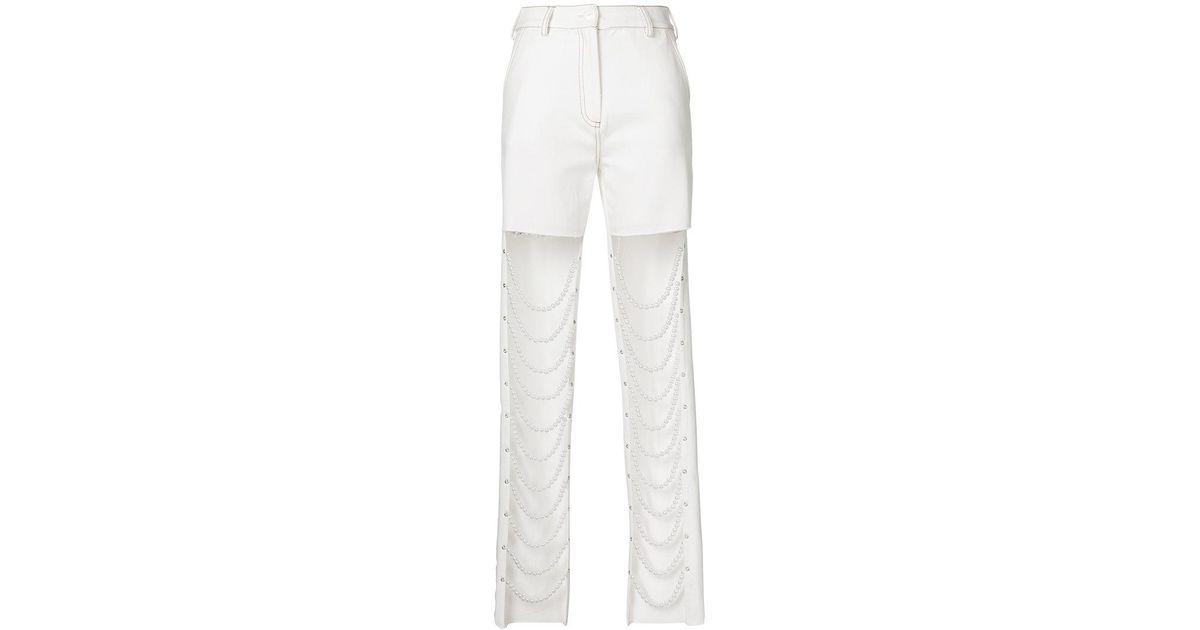 Slim Fit Avant String Perle Jeans - Cristina Blanc Savulescu RmBBQG3