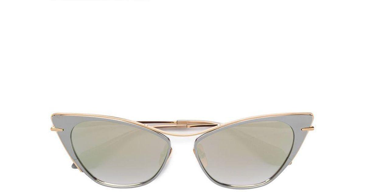 e835e44a68a Lyst - Dita Eyewear Von Teese Sunglasses in Metallic