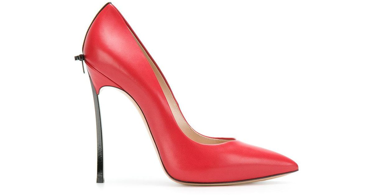 Blade bow-embellished pumps - Red Casadei mrY7Z8m