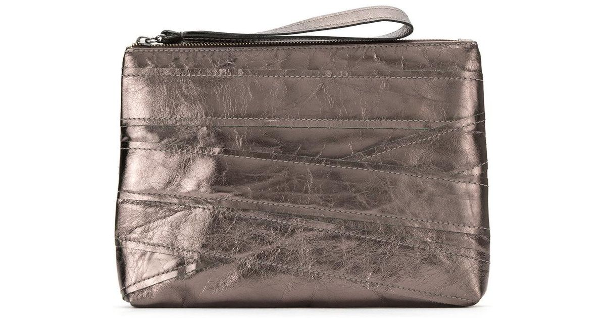 textured leather clutch - Brown Mara Mac Footlocker Cheap Online cxOFVTCIVT