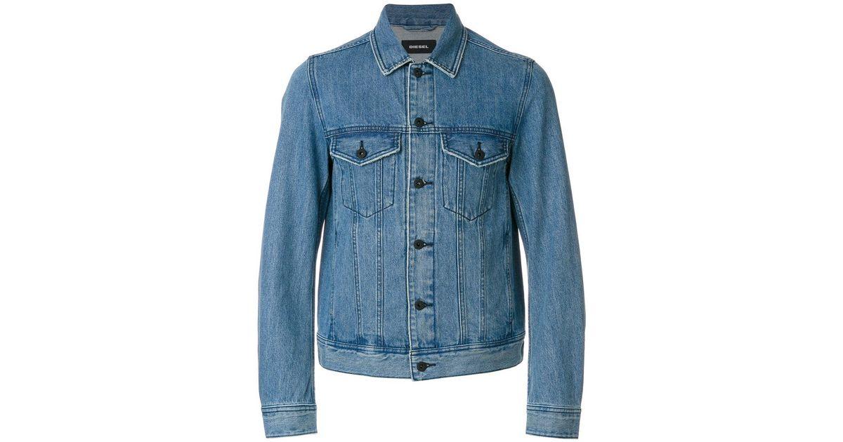 ff72c56510348 Lyst - Diesel Dashton Denim Jacket in Blue for Men