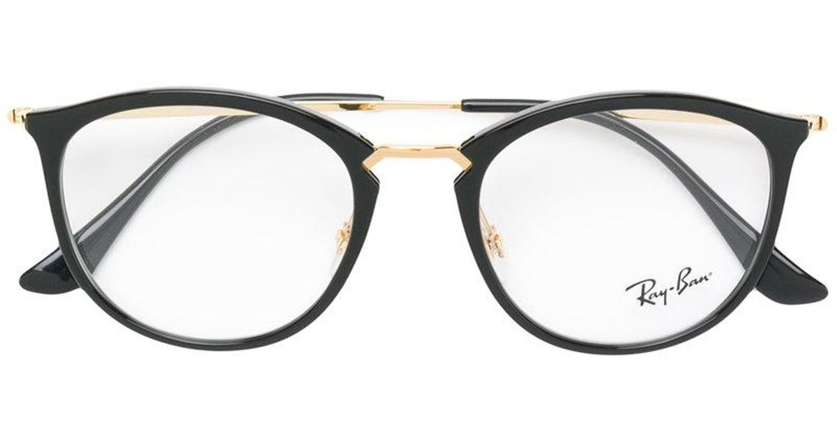 Lyst - Ray-Ban Round-frame Glasses in Black
