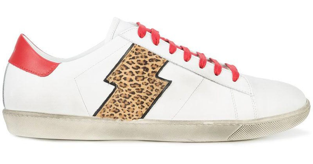 feee7b6a3ef9 Amiri Viper Leopard Low-top Sneakers in White for Men - Lyst