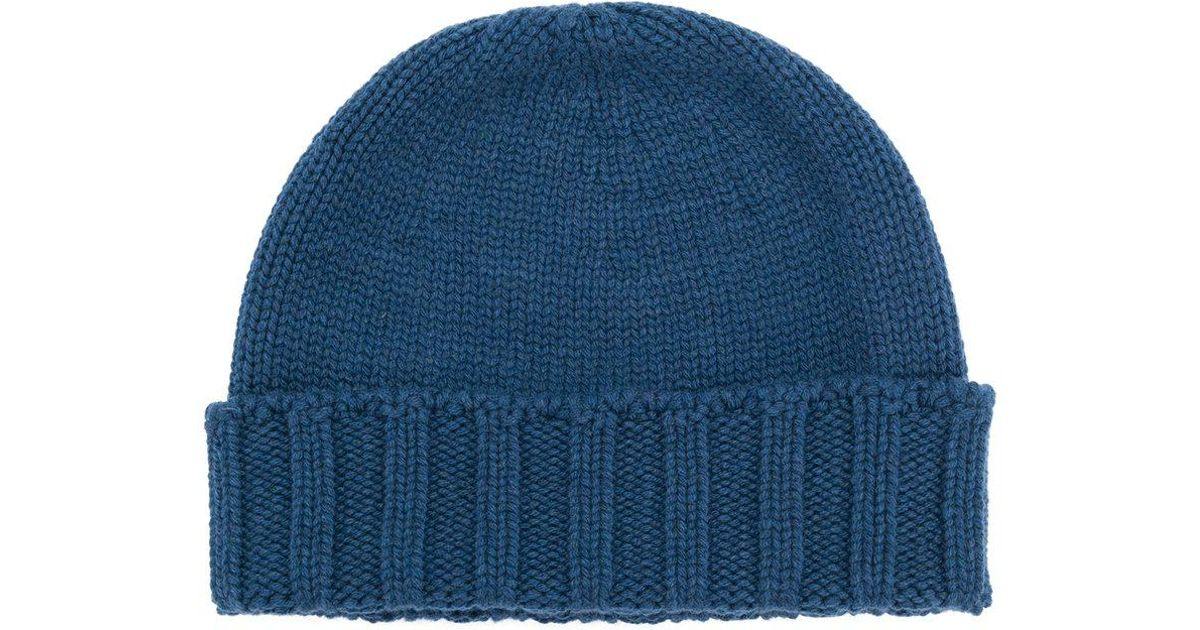 683ab678cc9 Lyst - Drumohr Cable Knit Beanie in Blue for Men