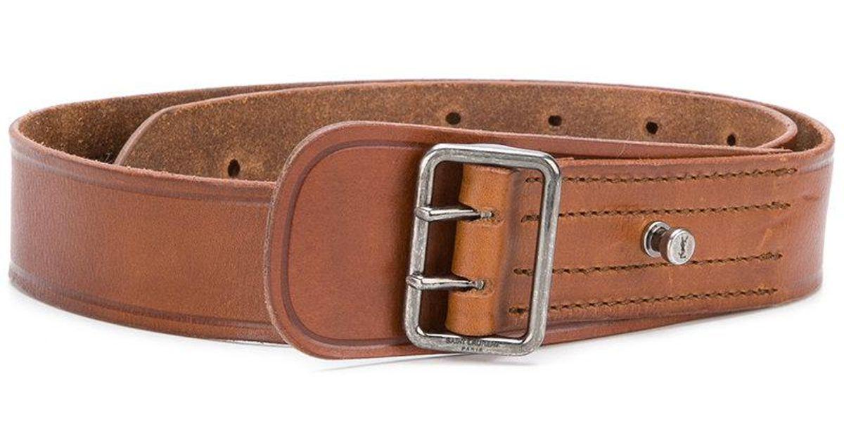 porthole buckle military belt - Brown Saint Laurent ttcWPic0