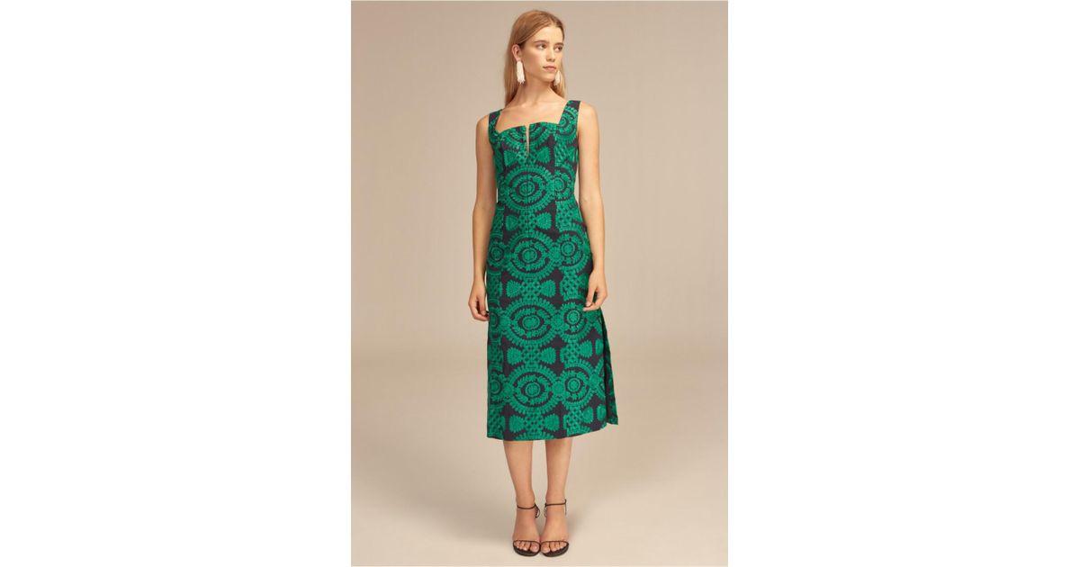 f9287ffab30 Lyst - C meo Collective Impressed Midi Dress in Green