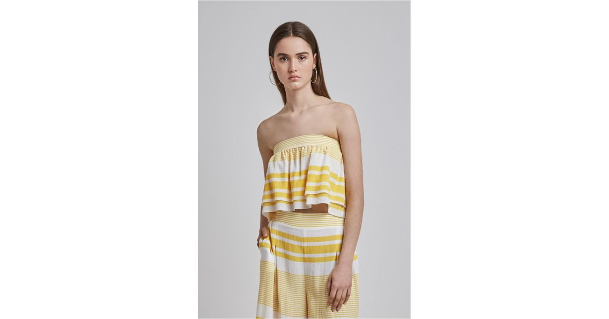 0634d5b7e2 Lyst - Finders Keepers Mason Strapless Crop