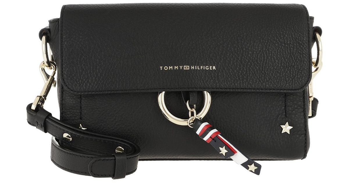 36865298 Tommy Hilfiger Heritage Leather Crossover Black in Black - Lyst