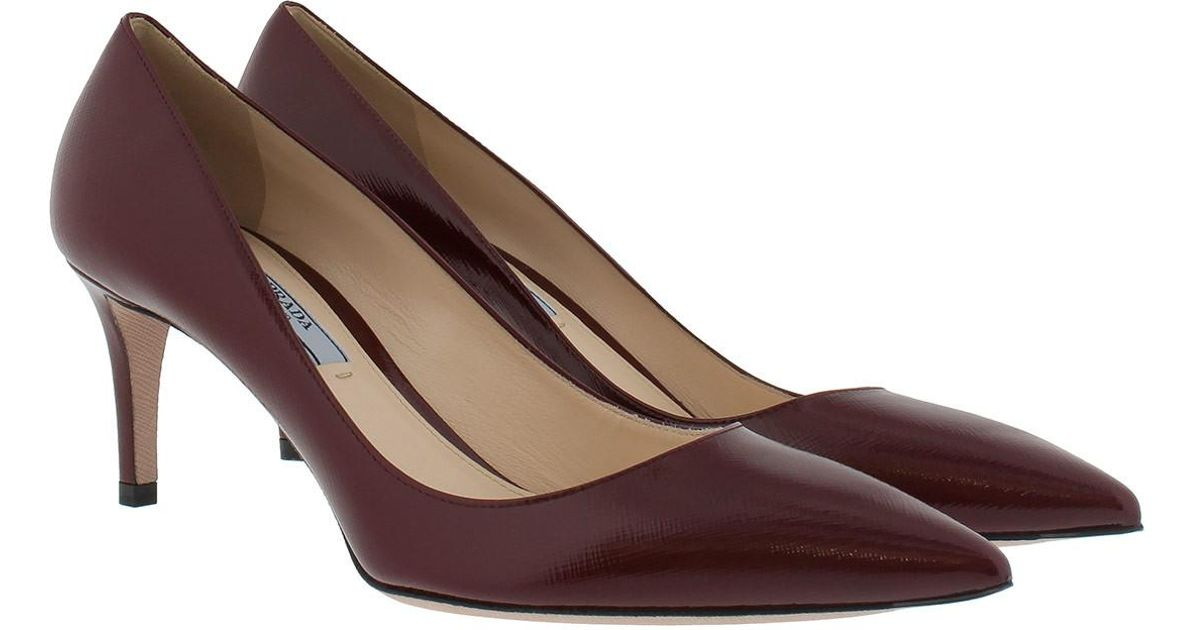 Pumps - Calzature Donna Vernice St. Saffiano Porpora - red - Pumps for ladies Prada oCxArjziE