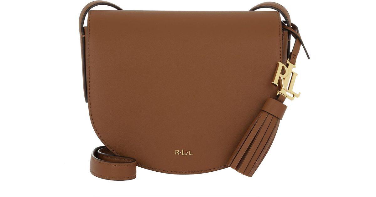 Lauren by Ralph Lauren Caley Mini Saddle Bag Field Brown monarch Orange in  Brown - Lyst a0d459a620