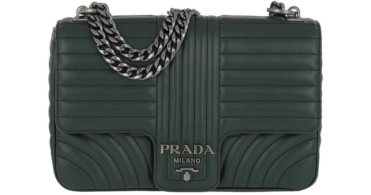 6a78e47b69e7 Prada Diagramme Shoulder Bag in Green - Lyst