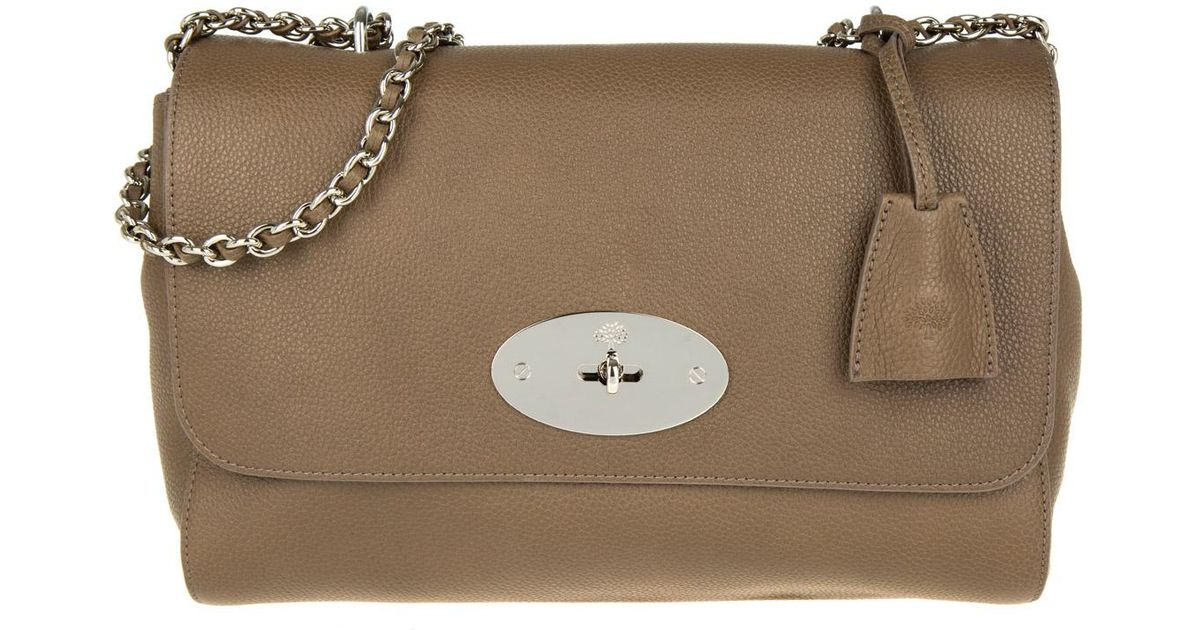 98133afcdcf0 ... cheapest mulberry lily medium glassic grain taupe in brown lyst aacb7  6088d