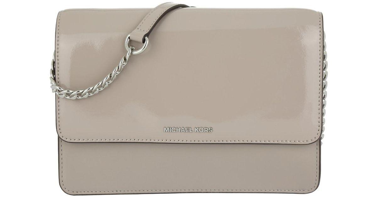 69bfbfc3d370 Michael Kors Daniela Large Crossbody Bag Leather Dark Cement in Gray - Lyst