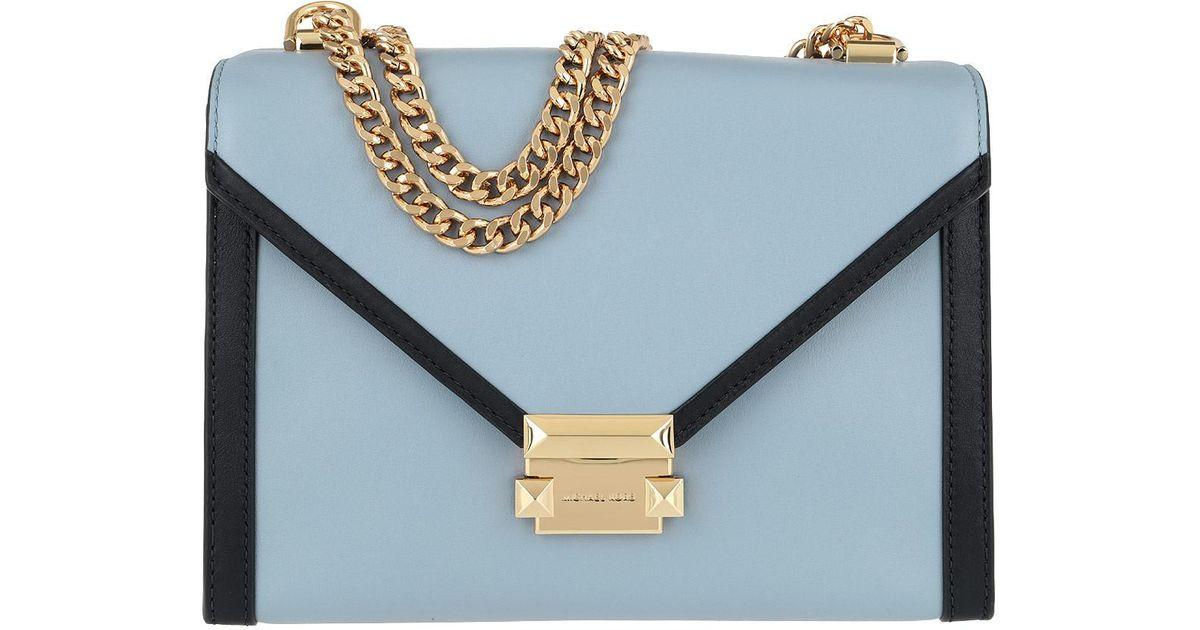 d6870d50416d71 Michael Kors Whitney Lg Shoulder Bag Pale Blue/admiral in Blue - Lyst