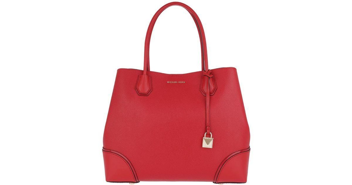 baa1b131963340 Michael Kors Annie Lg Center Zip Tote Bright Red in Red - Lyst