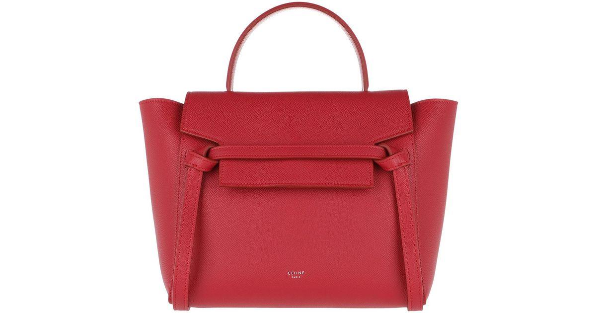 Céline Micro Belt Bag Poppy Red in Red - Lyst d4d71e5070cbf