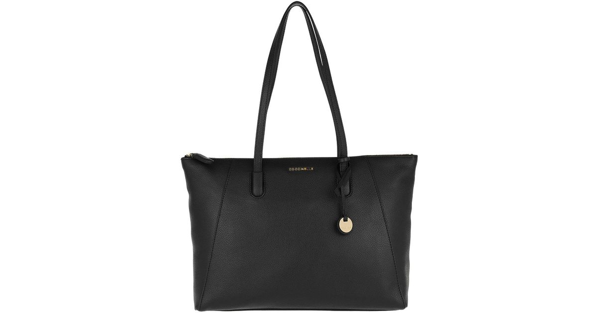 cheapest price classic fit huge selection of Coccinelle Canvas Clementine Soft Zipper Shopper Noir in ...