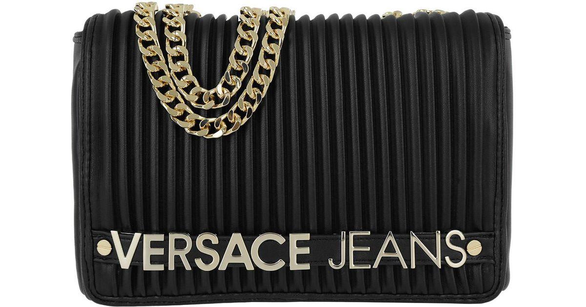 Versace Jeans Crossbody Logo Lettering Gold Nero in Metallic - Lyst 95e986db3924f
