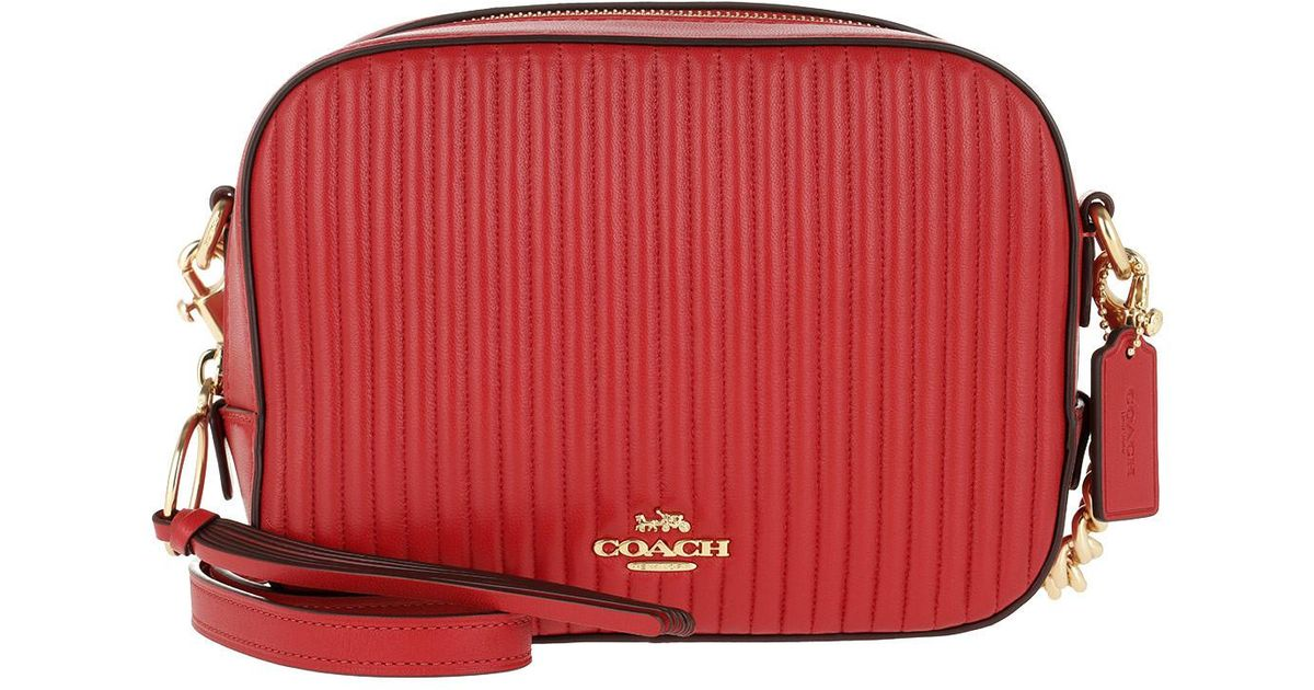 9b5e074128b8 COACH Quilted Shoulder Bag in Red - Lyst