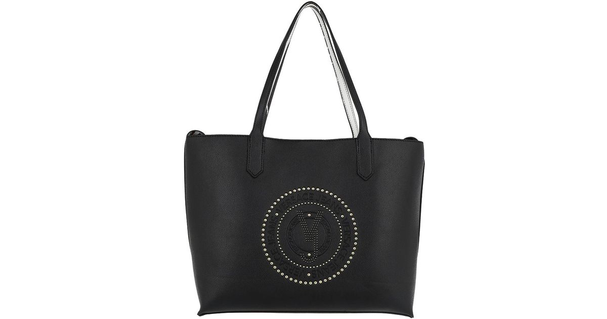 f53deb69ce Versace Jeans Two In One Golden Studded Logo Shopping Bag Nero in Black -  Lyst