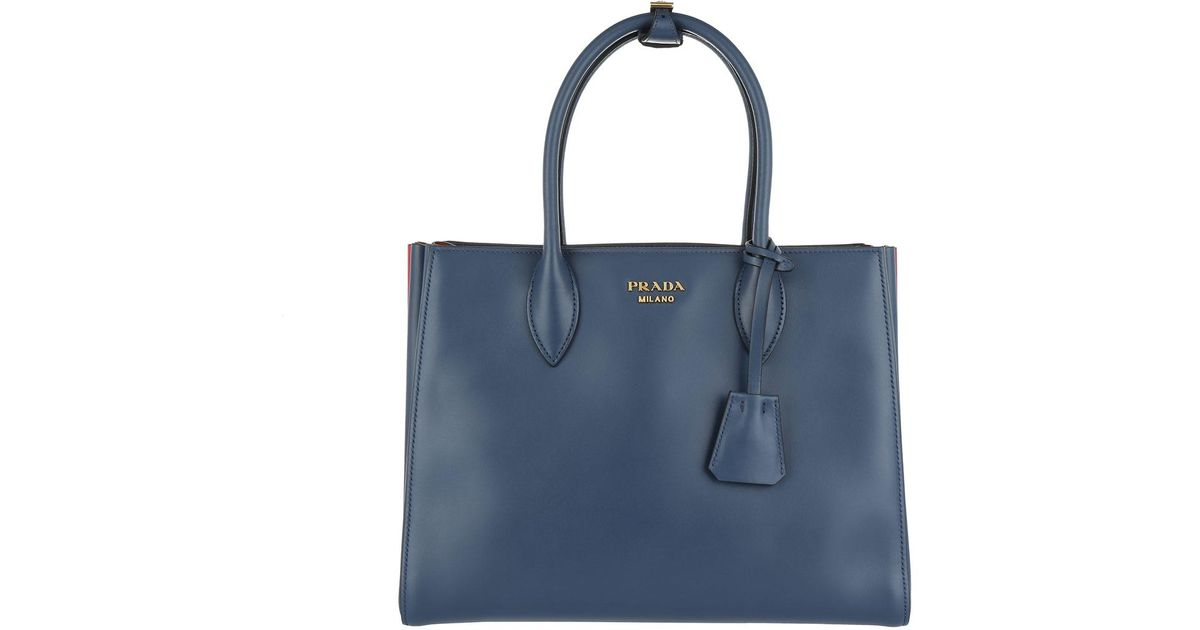 01dc5c77100e Prada Shopping Bag City Calf Bluette fuoco in Blue - Lyst