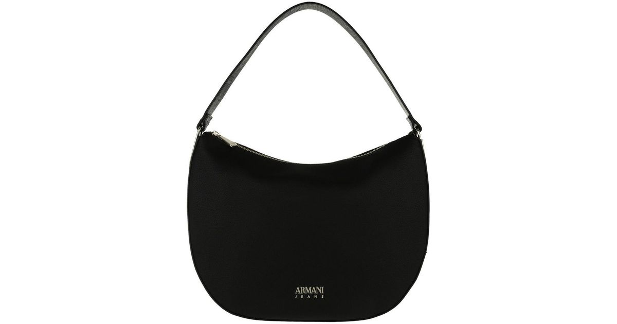 648c98fea114 Armani Jeans Hobo Bag Synthetic Leather Nero in Black - Lyst