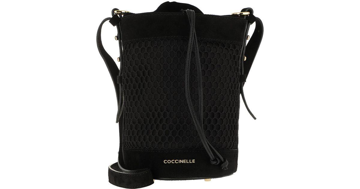 9b2bc01c049f4 Coccinelle Beta Mesh Bucket Bag Noir in Black - Lyst