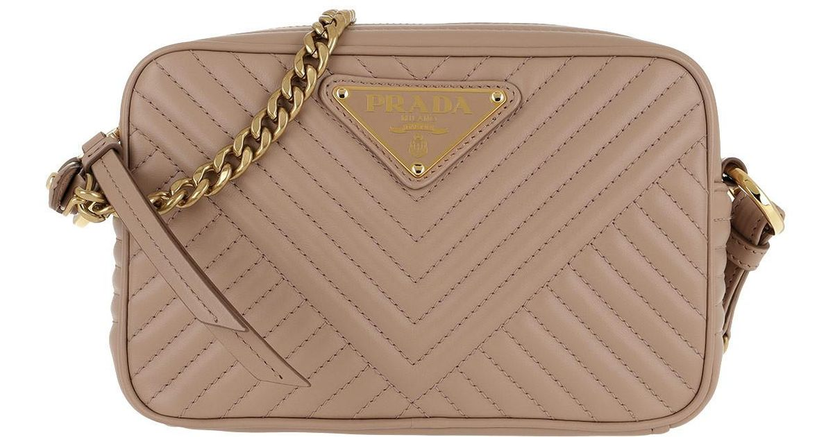 411429be433197 Prada Quilted Chain Shoulder Bag Powder Pink 1 - Lyst