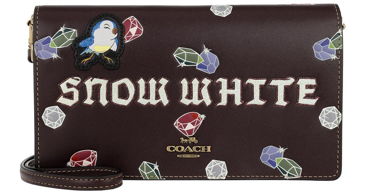 Clutch - Snow White Foldover Crossbody Clutch Oxblood - colorful - Clutch for ladies Coach GWirW