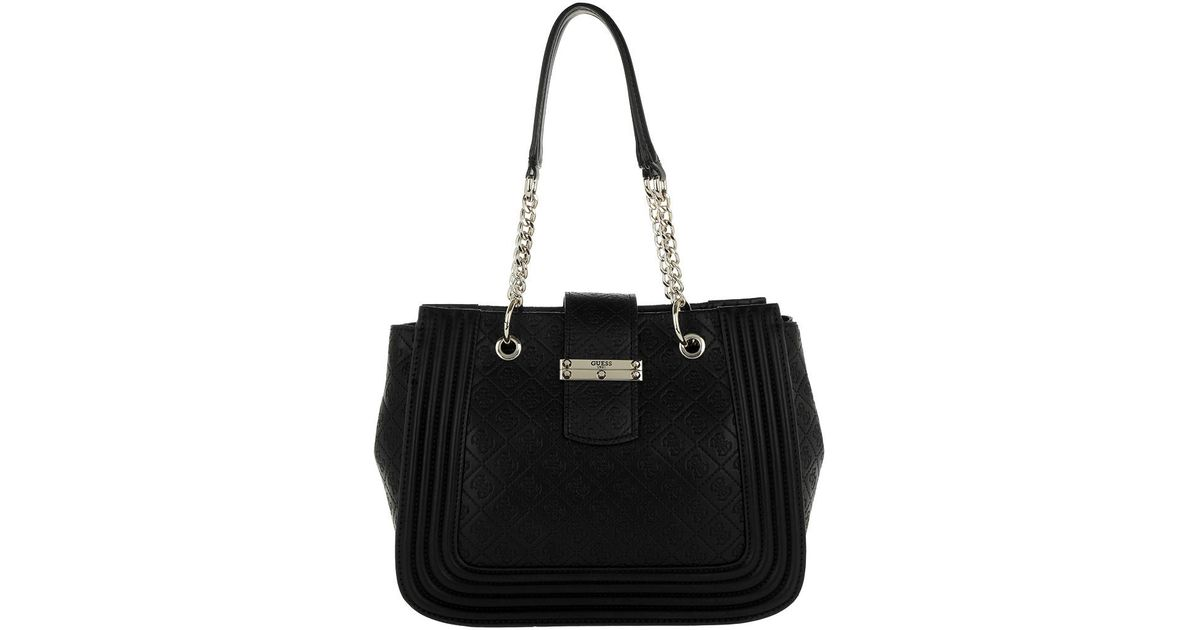 ef0c60f6df0 Guess Lorien Shopper Black in Black - Lyst