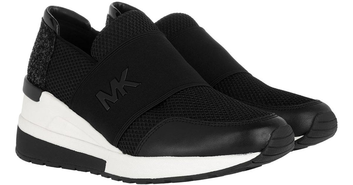 28c57367453 Michael Kors Felix Trainer Mesh Sneaker Black in Black - Lyst