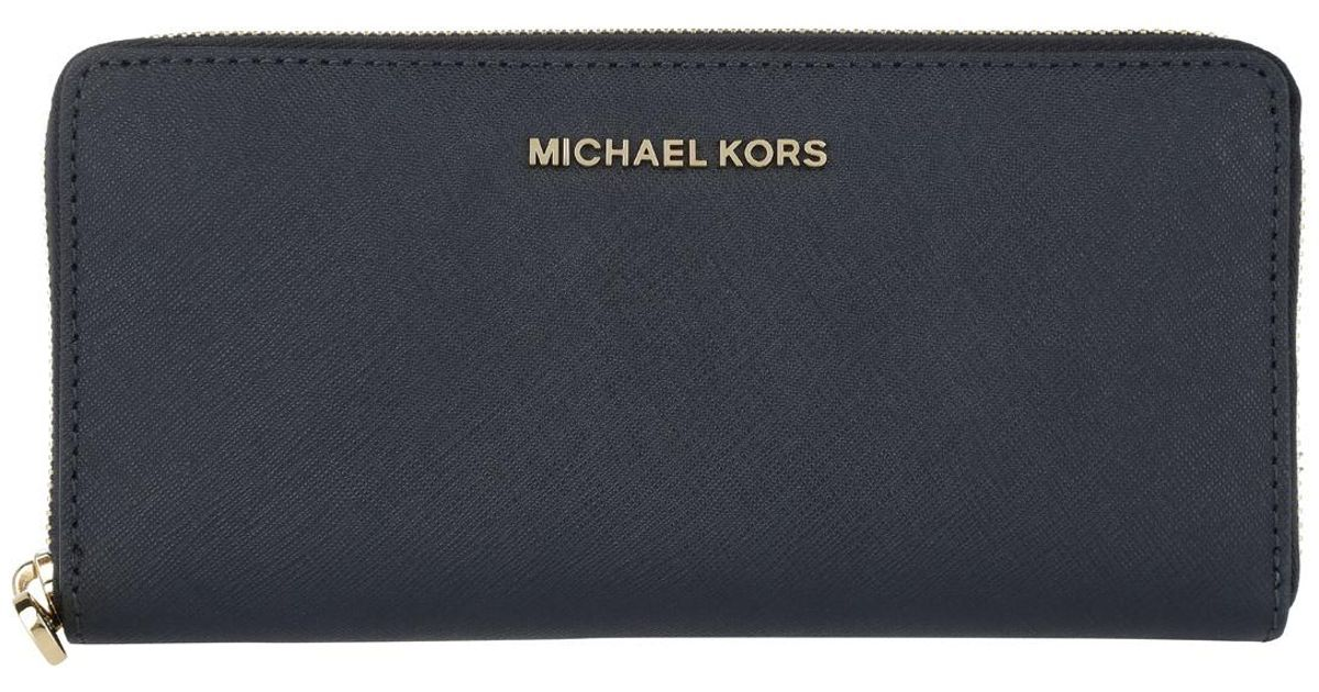 72ad2ea6344d Michael Kors Jet Set Travel Za Continental Wallet Admiral in Blue - Lyst
