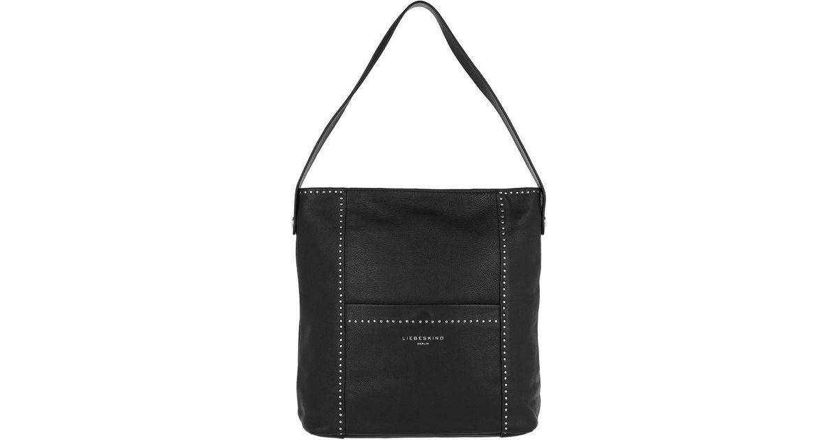 389c859fc5e0 Liebeskind Berlin Vintage Stud Love Hobo Bag Medium Black in Black - Lyst