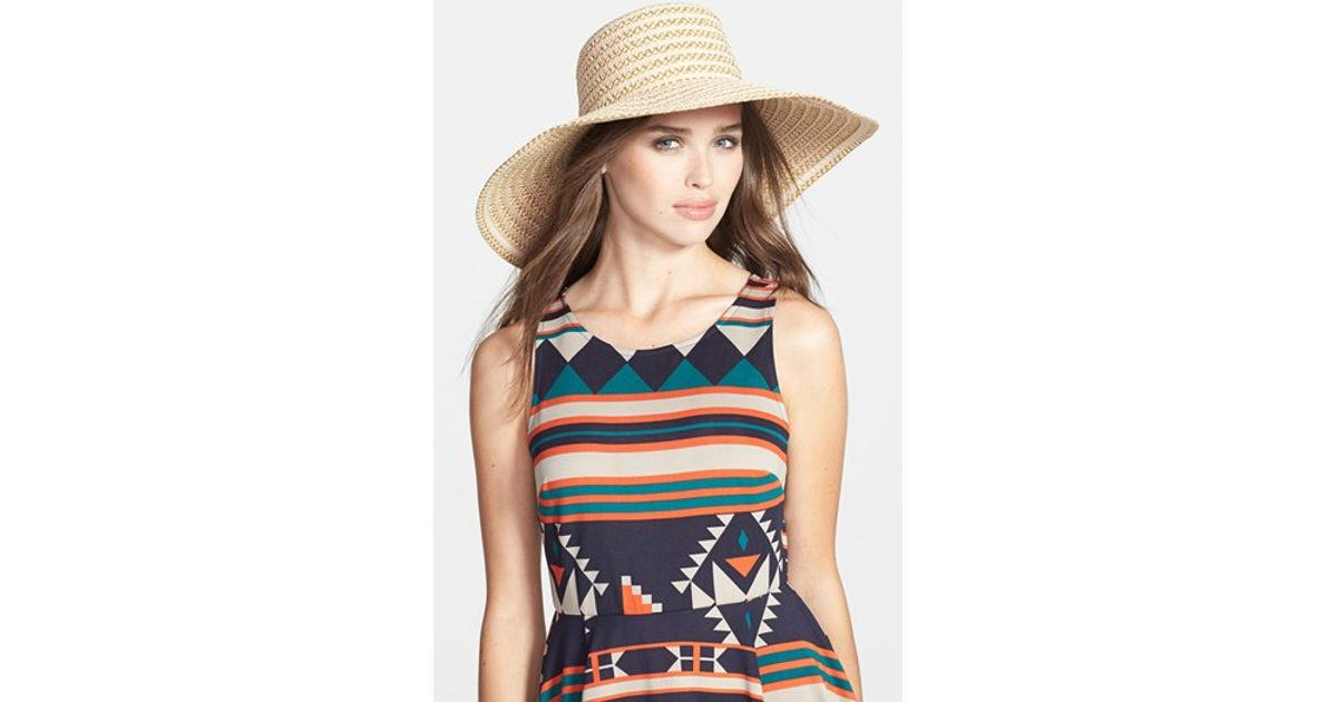 d299edf1fef0e Eric Javits  gg Dame Ii  Packable Sun Hat in Natural - Lyst