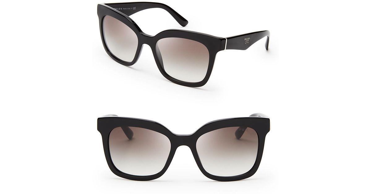a9a641d85d46 ... hot lyst prada heritage square sunglasses in black 67151 9feb2 ...