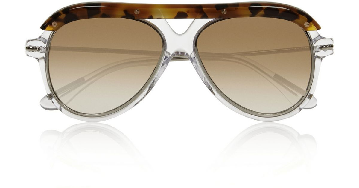 Roland Mouret Woman D-frame Tortoiseshell Acetate And Silver-tone Sunglasses Dark Brown Size Roland Mouret